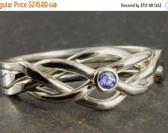 MATERNITY LEAVE SALE Natural tanzanite puzzle ring in sterling silver - Size 8