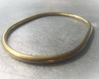 Gold Brass Bangle Oval Bangle Bracelet Item No. 0399