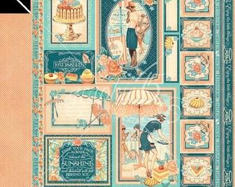 ON SALE Graphic 45 Cafe Parisian Creme de La Creme Scrapbook Paper