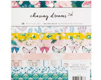WOWZA Crate Paper Chasing Dreams 12x12 Paper Pad, 48 sheets
