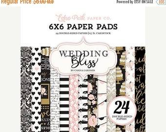 NOW ON SALE Echo Park Wedding Bliss 6x6 Paper Pad