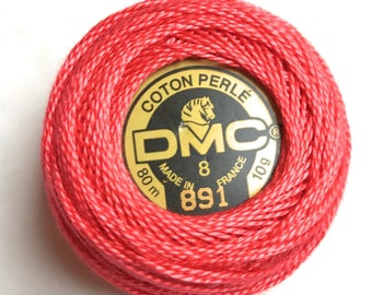 DMC 891 Perle Cotton Thread |Size 8 | Dark Carnation