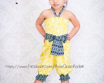 SALE Girls Romper Pattern - Shirr Sweetness - Romper newborn through 8 girls shorts and capris