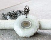 SALE Solar Quartz   Necklace Oxidized Silver Gemstone Jewelry   Stone Jewellery Handmade Accessories Stalactite Pendant  Unique Gifts For...