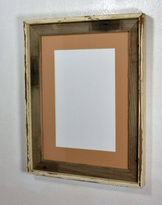 12x16 Frame From Reclaimed Wood With Natural Colors Tan