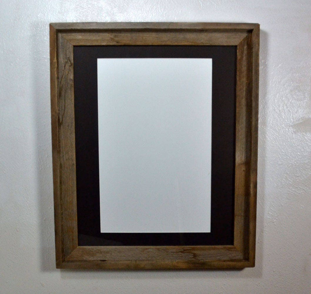 16x20 Frame From Old Wood With Mat For 11x17 Or 12x18 From