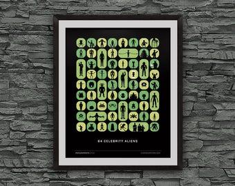 alienWe (50 Celebrity Aliens) Giclee Print