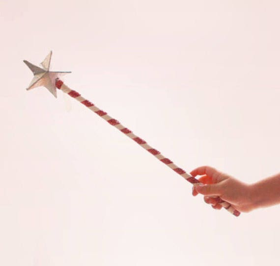 Flower girl wand, Silver star, Fairy princess wand, Silver OR Pink star wand, Unique flower girl, Gift for flower girl, princess party
