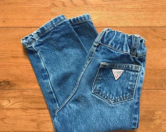 Vintage toddler Guess jeans 1990s Guess baby jeans Baby denim