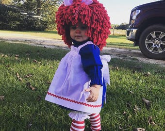 Raggedy Ann  with  socks ,without wig, available in separate listing