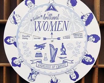 letterpress brilliant women spinner