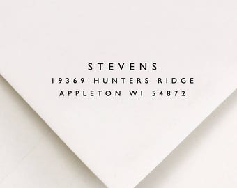 Return Address Stamp - Envelope and Package Stamping - Best Selling Item - Modern Wedding Addressing - Best Seller (193)