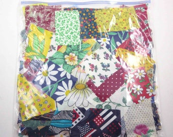 Huge Bag of Assorted Fabric Scraps Pieces or Material Lot F