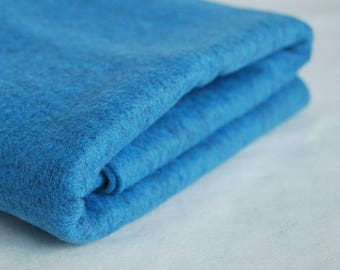 100% Pure Wool Felt Fabric - 1mm Thick - Made in Western Europe - Mottled Blue