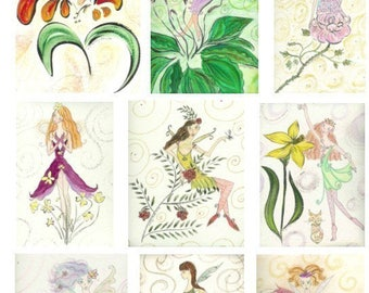 Fairy Cards - Boxed Set of 10 Assorted Cards