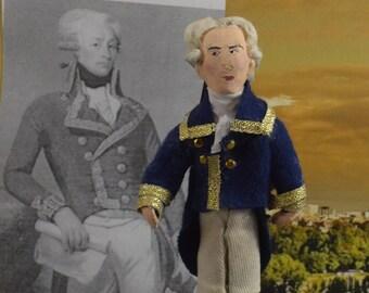 Marquis de Lafayette Gilbert du Motier French Military Officer Miniature Doll