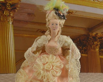 Marie Antoinette Doll French Historical Art Miniature Collectible Queens of France