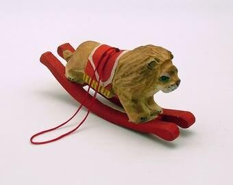 Vintage Christmas Ornament Lion