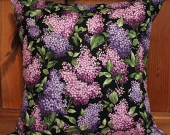 Beautiful Lilacs Pillow Cover Decorative Throw 18x18