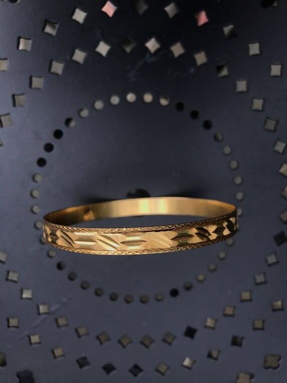 Persian 22K Gold Bangle Bracelet 14.3 grams