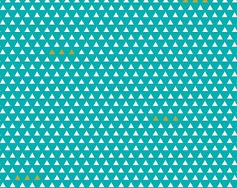 20EXTRA 30% OFF Four Corners Triangle Teal - 1/2 Yard