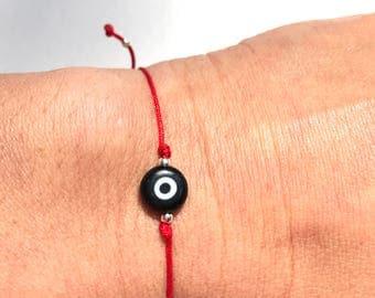 Evil Eye Bracelet / Friendship Bracelet for girls /Red string of fate/ Wish bracelet / Stacking hand made jewelry/ Kabbalah Jewelry