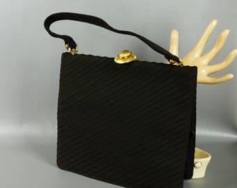 Vintage 1960s Handbag Large Brown Envelope Style Purse by Koret