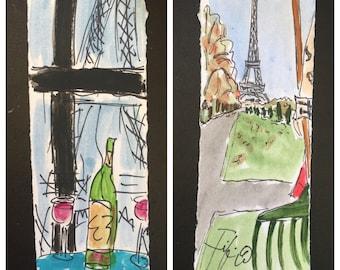 Raking Leaves in Paris I