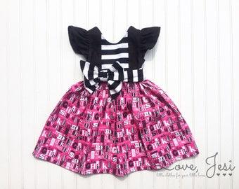 Back to School Dress, Girls School Dress, First Day of Preschool, First Day of Kindergarten, Dresses for School, Preschool Dresses, Prek