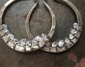 Sterling Silver Hoop Earrings / Silver Hoops / Rustic Jewelry / Sterling Hoops / Rustic Jewelry / DanielleRoseBean Large Hoops Hoop Earrings
