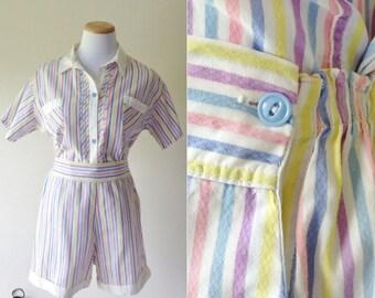 1950s Lewis Framels cotton PJ set