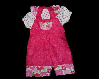 Overall & blouse for Bitty Baby
