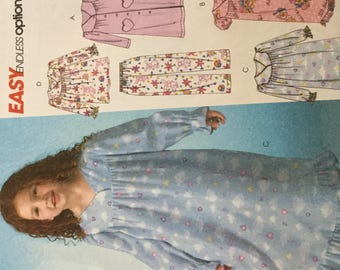 McCalls 4646 Childs and Girls Robe, Nightgown, Top and PantsInfants Top, Pants Pattern, size 6-8, Uncut