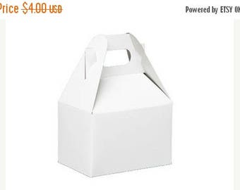 memorial day sale 6 Pack  White Mini Gable Style Boxes 4 X 2.5 X 2.5 Inches Perfect for gifts, food, and party packaging