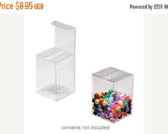 STOREWIDE SALE 20 Pack Clear Plastic Tuck Top Style Packaging Retail Gift Boxes 2X2X3 Inch Size