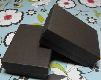 New Years Sale 10 Pack 21 Size Chocolate Brown Matte Finish Cotton Filled Jewelry Retail Gift Boxes