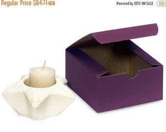 New Years Sale 100 Pack Matte Purple Paper Tuck Top Style Packaging Retail Gift Boxes 4X4X2 Inch Size