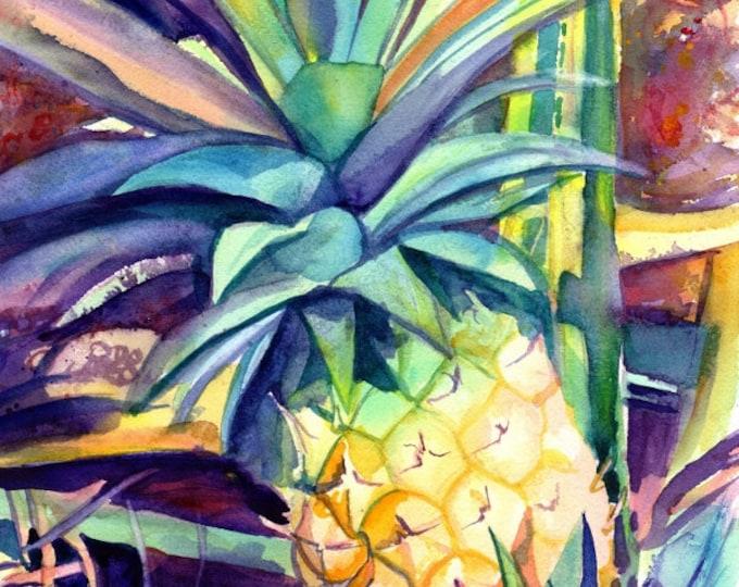 """11""""x14 print of Kauai Pineapple 4"""