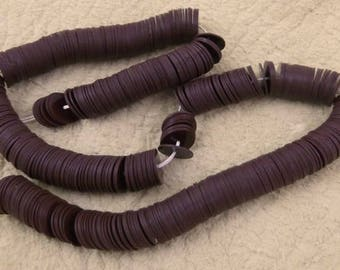 2 Vintage Chocolate Brown Celluloid Sequins Strand - 12 Gram Packages