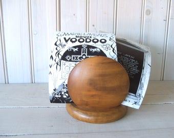 Vintage Myrtlewood Napkin or Letter Holder