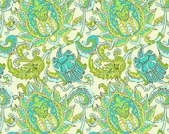 Amy Butler AB67 Soul Blossoms Dancing Paisley Lime Fabric By Yard