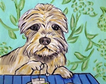 20% off storewide Dandie Dinmont at the Coffee Shop Dog Art Tile