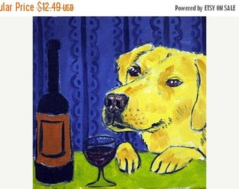 20% off Harrier at the Wine Bar Dog Art Tile Coaster Gift