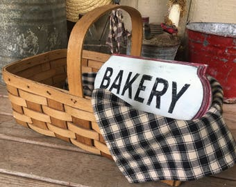 Rustic Vintage-Style Wood Bakery Sign