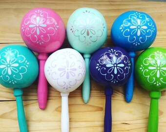 Maracas (many available) wedding Party favor Talavera tile Wedding personalized party favor custom with your names and wedding date