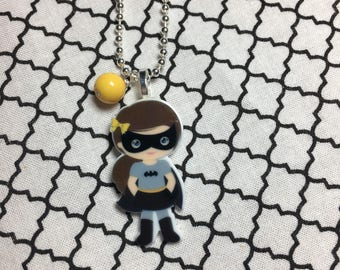 Super hero girl necklace