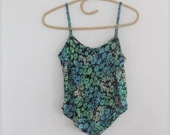 batik floral rayon cami // cropped blouse top