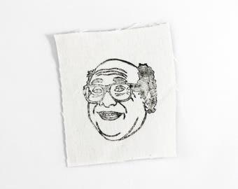 Danny Devito Printed Canvas Patch