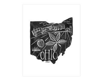 Ohio State Print // 1canoe2 // Modern Art Print