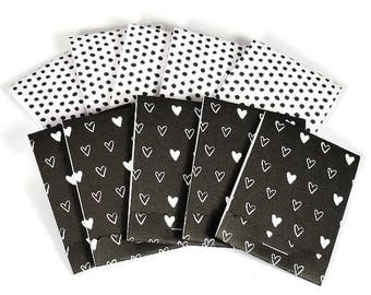 Set of 20 Matchbook Notepads Mini Note Pads in Love Dotty